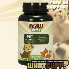 NOW Pets PET ALLERGY for Dogs & Cats 75 Chewable Tablets Healthy Histamine Level
