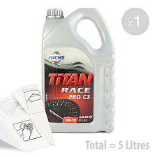 Car Engine Oil Service Kit / Pack 5 LITRES Fuchs Titan Race Pro C3 5W-30 5L