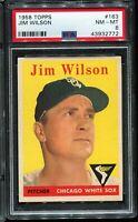 1958 Topps Baseball #163 JIM WILSON Chicago White Sox PSA 8 NM-MT