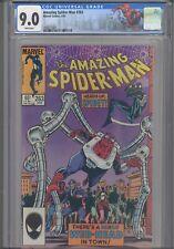 Amazing Spider-Man #263 CGC 9.0 1985 Black Cat & Spider- Kid App Custom Label