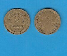 gertbrolen 2 Francs Type Morlon Cupro-Aluminium 1935  Année rare Exemplaire N°4