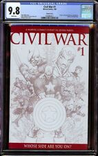 Civil War # 1 Sketch cover CGC 9.8 White (Marvel, 2006)