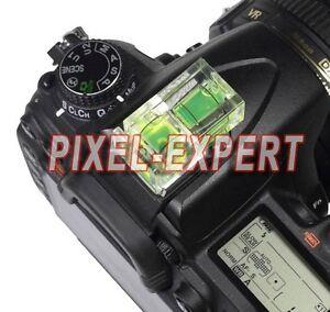 LIVELLA 2 ASSI SLITTA FLASH FOTOCAMERA PER NIKON D500 D810 D7200 D5500 D3300 DF