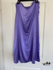 Satin Saree Underskirt Petticoat Purple Violet Mauve