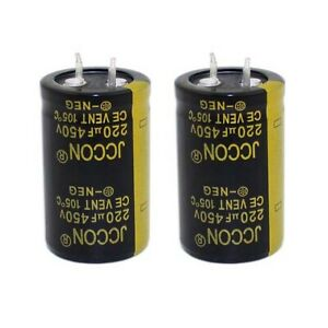 1PC 220uF 450V Snap-in Electrolytic Radial Capacitors 105°C 25x40mm
