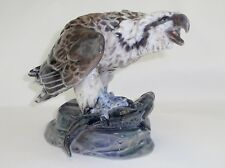 DAHL JENSEN  1290 Osprey Eagle With Fish Rare Copenhagen Porcelain Figurine