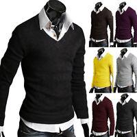 Herren Sweater Warm Strickpullover Hemdkragen Sweatshirt Pulli Freizeit Tops