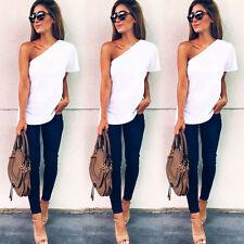 Fashion Women Ladies Summer Short Sleeve Shirt Loose Casual Blouse Tops T-Shirt