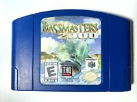 BASS Masters 2000 NINTENDO 64 N64 Game Tested + Working AUTHENTIC!