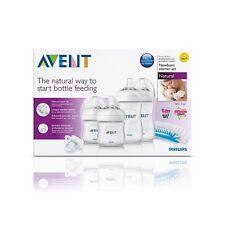 BRAND NEW PHILIPS Avent Natural Newborn Starter Bottle Set - Brush Teats Bottles