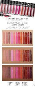 SEPHORA Luster Matte Long-Wear Lip Color Liquid Lipstick FULL SZ! ☆ Choose Shade