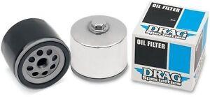 Spin-On Oil Filter Drag Specialties Black 140004B-BX29