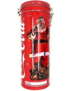 2021 Coca-Cola Gift Tin Set With Georgia Green Contour Glass Christmas Xmas Retr