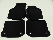 VW Golf MK4 1997-04 Tailored Fit Car Mats in Black. 8 x Oval Fixings.