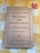 More details for west lancashire hamer benevolent institution, scarce retired freemasons , 1924