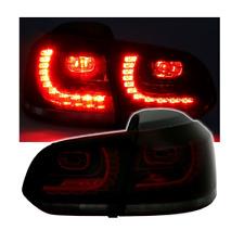 2 FEUX FEU ARRIERE A LED VW GOLF 6 TYPE GTI R - ROUGE ET NOIR FUME