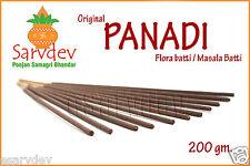 Sarvdev PANADI FLORA Sticks 200gm. MASALA Agarbatti Pleasant Smell f HOME OFFICE