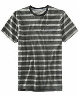 Levi's Men's Gray Heathered Striped T-shirt, Large