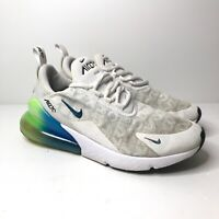 Nike Air Max 270 Men's UK Size 9 White Blue Green Mesh Trainers Shoes