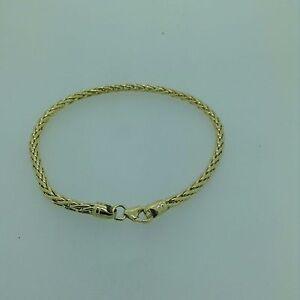 375 9ct Spiga Armband in Gelb oder Weißgold-voll gekennzeichnet, Schmuck