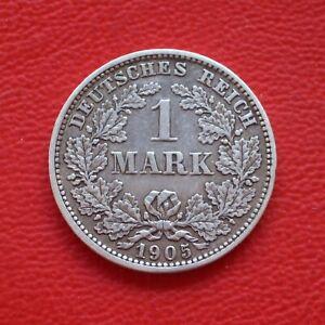 1 Mark 1905 E ss / SILBER / Kaiserreich / Deutsches Reich / KM#14 J#17