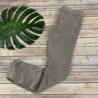 Free People Corduroy Pants Size 30 Light Gray Straight Leg Cords Stretch Soft