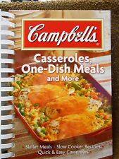 Campbell's Casseroles, One Dish Meals and More new cookbook spiral bound