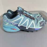 Salomon Speed Cross 4 Womens Size 6.5 Trail Running Shoes Blue Athletic Sneakers