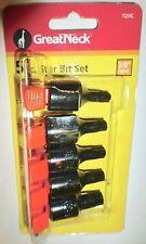 Great Neck 5 pc Star Torx Bit Set w Rail, 3/8 Drive T40,T45,T47,T50,T55, TQS5C