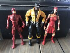 Marvel Leyendas Daredevil Luke Cage & Elektra Lote de 6 pulgadas Figura