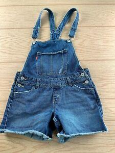 Levi's Shortalls Medium Wash sz 16 Girls Shorts Overalls