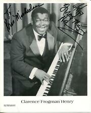 Clarence Frogman Henry Autograph Ain't Got No Home But I Do Singer Signed Photo