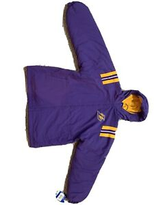 Los Angeles Lakers Authentic Reebok Heavy Winter Jacket Youth Large