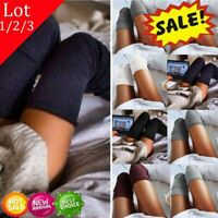 1-3x Women Winter Warm Cable Knit Over knee Long Boot Thigh High Socks Stocking