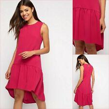 Miss Selfridge Dress Size 10 - Pink Frill Hem Dress - BNWT - £32 RRP