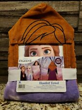 Disney Frozen II Elsa Anna Olaf Hooded Bath Towel NEW