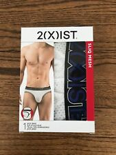 2(x)ist Men's Sliq Mesh Jock Brief White Large NIB