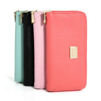 Long Purse Women Wallet Card Holder Zipper Ladies Leather Clutch Coin Phone Bag
