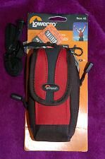 NEW Red & Black Lowepro Rezo 40 Zip 6 x 4 x 13.5cm Camera Case Pocket Strap Gift