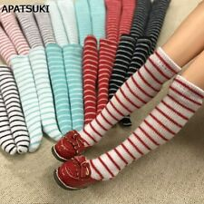 1pair Striped Stockings For 11.5in Doll Middle Tube Socks For Blythe 1:6 Doll