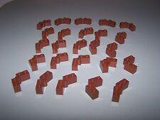 LEGO® REDDISH-BROWN 1x2 HINGE upper lower part x25 brown 79004 castle hobbit lot