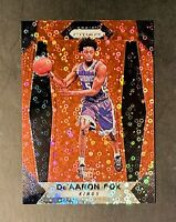 2017-18 Panini Prizm De'Aaron Fox Rookie #24 Fast Break Prizm Red RC /125