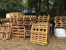 Used Dry Wooden Pallets 120 cm by 80 cm and 12 cm high CASH ON COLLECTION ONLY