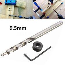 "3/8"" 9.5mm 1/4"" Twist Step Drill Bit Set Stop Collar For Kreg Manual Pocket Hole"