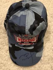 Tom Brady Patriots Signed Autographed Camo 2008 Super Bowl Hat - COA -