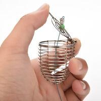 Bait Cage Fishing Trap Basket Feeder Holder Stainless Steel Wire Coarse  Ga