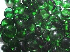 10 LBS DEEP GREEN FLAT GLASS MARBLES GEMS, VASE FILLERS, MOSAIC TILES $21.99!!