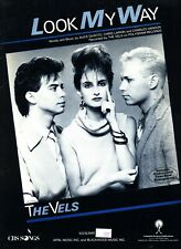 THE VELS LOOK MY WAY SHEET MUSIC PIANO/VOCAL/GUITAR/CHORDS VERY RARE 1985 NEW