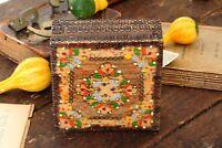 Wooden Box Vintage Hand Carved Trinket Box Small Wood Jewelry Box Keepsake Box