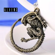 Metal Aliens vs Predator Figure Keyring Key Chain Antique Bronze Color keychain